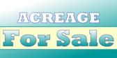 Acreage For Sale Sign