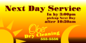 Next Day Service Time Guarantee