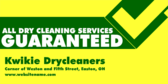 All Dry Cleaning Guaranteed