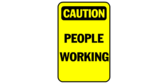 Caution people working