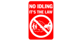 No Idling- turn off your engine, it's the law