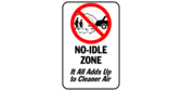 no idling parking signs