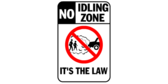 No Idling Zone Its The Law