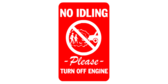 No idling please turn off engine