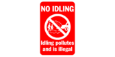 Idling pollutes and is illegal