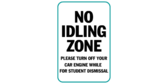 No idling zone please turn off your car