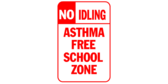 No idling – asthma free school zone