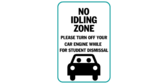 No Idling Zone Please Turn Off Your Care Engine