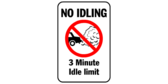 No idling – 3 minute limit
