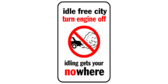 Idle free city  - turn engine off – idling gets