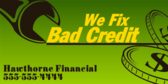 We Fix Your Bad Credit
