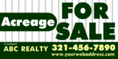 Acreage For Sale Banner