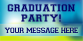 Personalized graduation banner