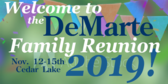 Family Reunion Welcome