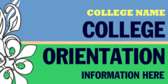 Generic College Orientation