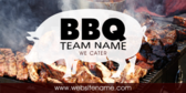 BBQ Team Name; www.websitename.com; We Cater