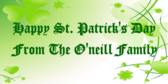 Happy St. Patrick's Day From