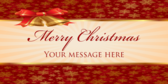 Merry Christmas Your Message Here
