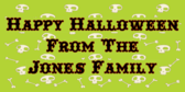 Jones Family Halloween