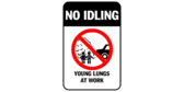 No idling – young lungs at work