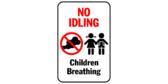 No idling – children breathing
