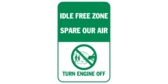Idle free zone – turn engine off – spare our a