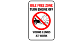 Idle free zone – turn engine off – young lungs