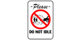 Please do not idle