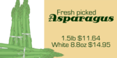 Asparagus with Price