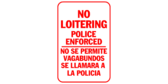 no loitering police enforced, no se permite