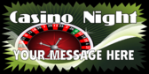 Casino Night Roulette Wheel