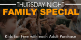 Thursday Night Family Special Buffet