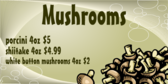 Mushrooms Vegetable