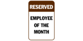 Reserved Employee of the Month Brown