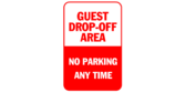 Guest drop off area no parking at any time