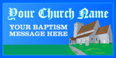 christening baptism banners
