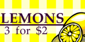 Lemons for Sale