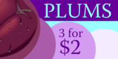Plums for Sale
