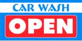 Car Wash Open Orange