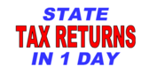 1 Day State Tax Refunds