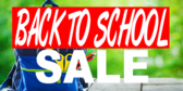 Back To School Sale Blue White