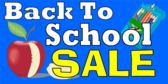 Back To School Sale Yellow