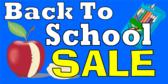 Back To School Sale Yellow