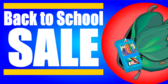 Back To School Sale Blue Red