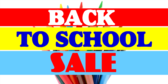 Back to School Sale Yellow Pink