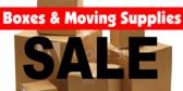 Boxing and Moving Supplies Sale Gold