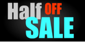 Half Off Sale Black