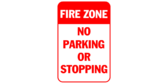 Fire zone no parking or stopping