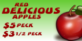 Red Delicious by the Peck