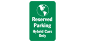 Reserved Parking Hybrid World Icon
